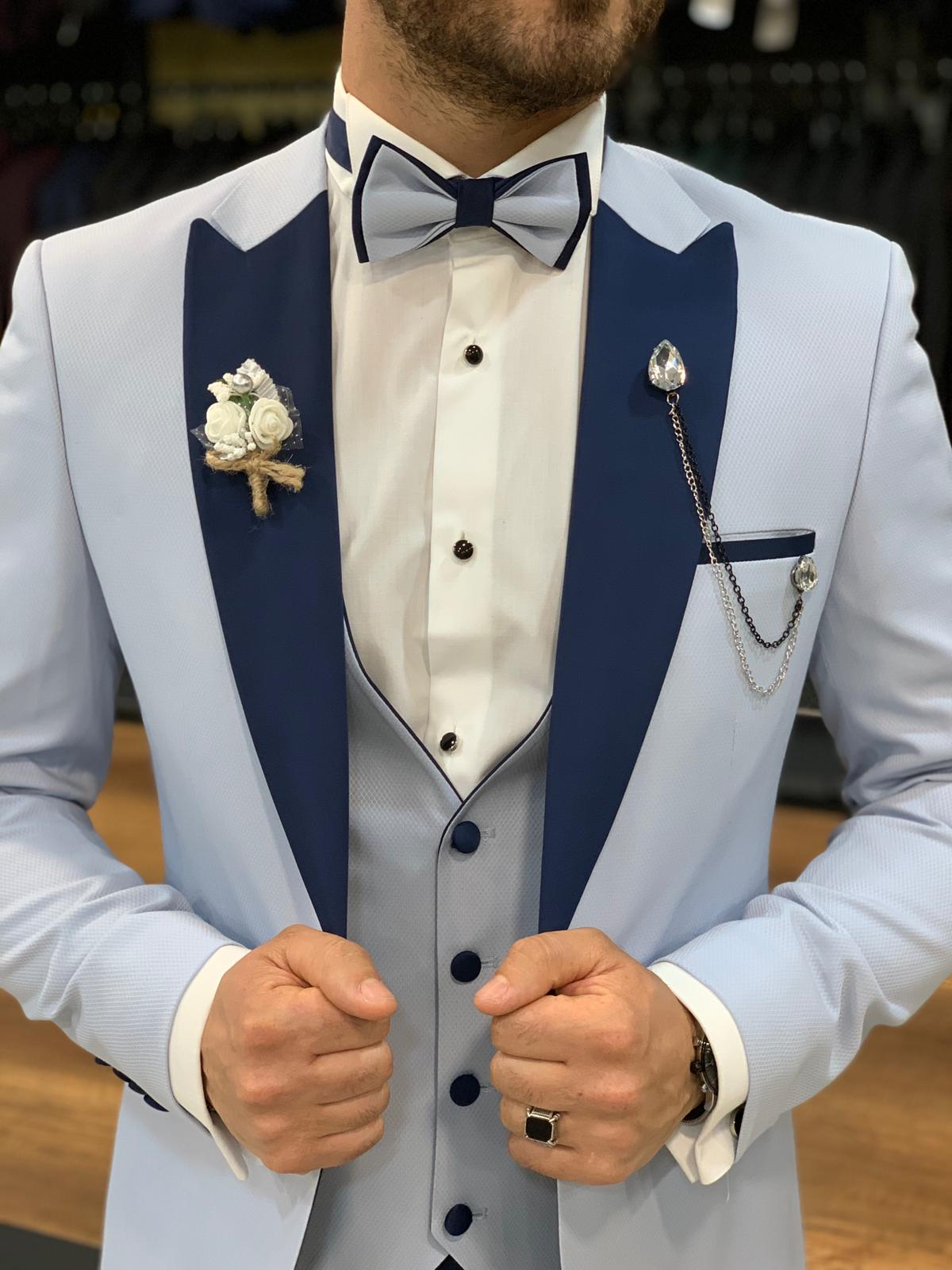 Blue Groom's Attire and Wedding Suits for Men