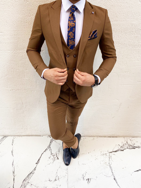Tan Prom Suit by BespokeDailyShop