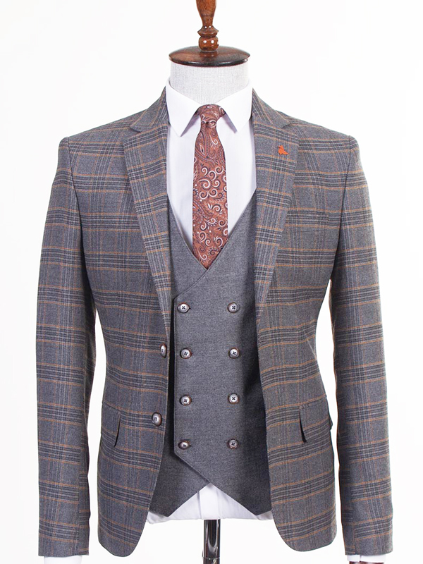 Gray Prom Suit by BespokeDailyShop