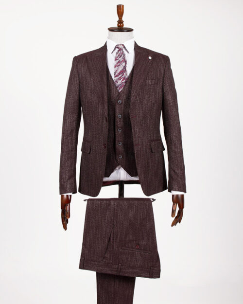 Burgundy Slim Fit Suit by BespokeDailyShop.com with Free Worldwide Shipping