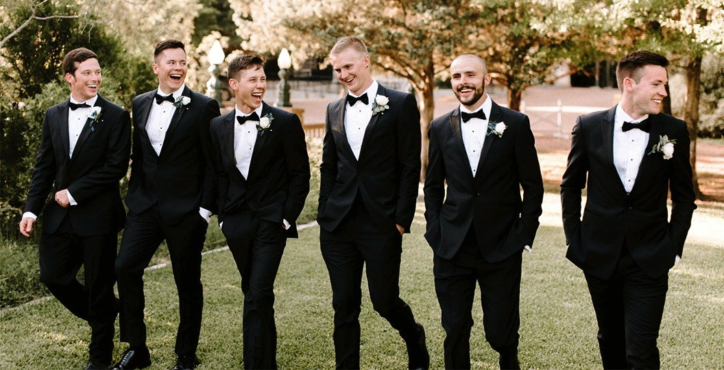 Groomsmen Rocked a Black Tux by BespokeDaily Blog